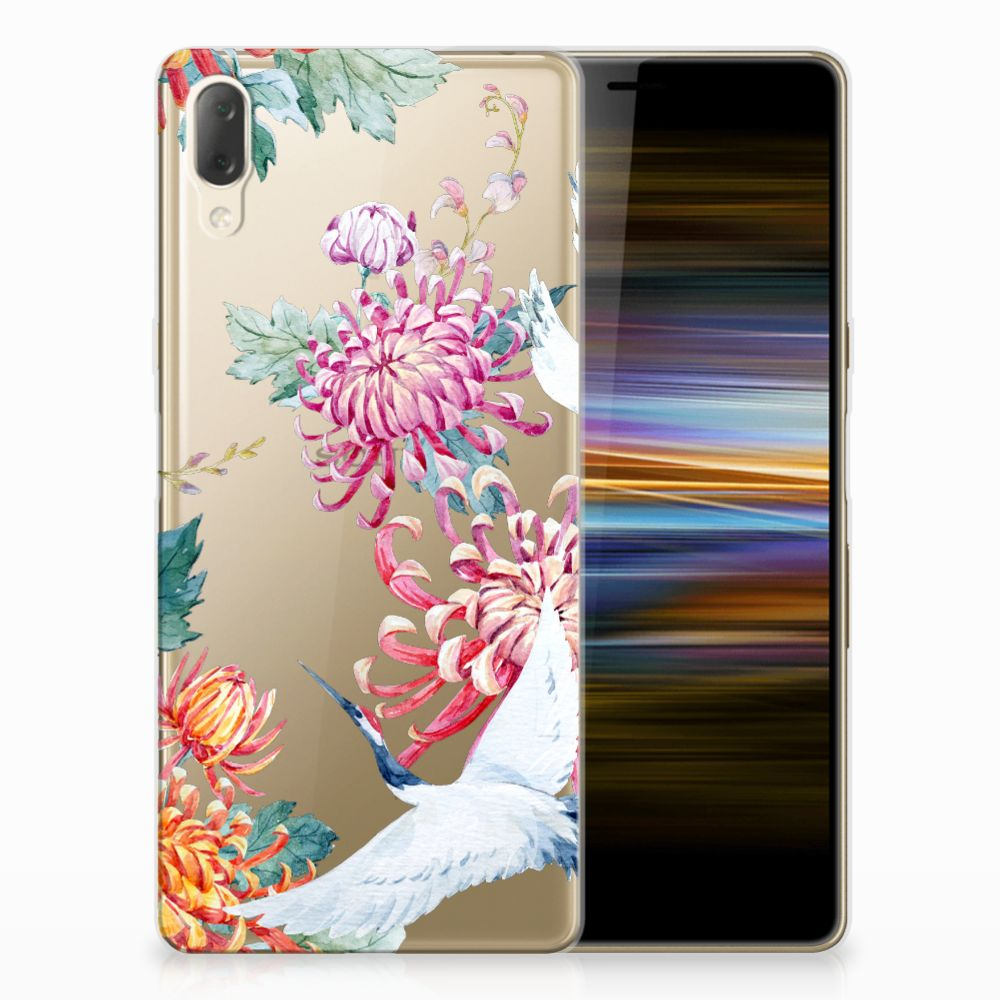 Sony Xperia L3 TPU Hoesje Bird Flowers