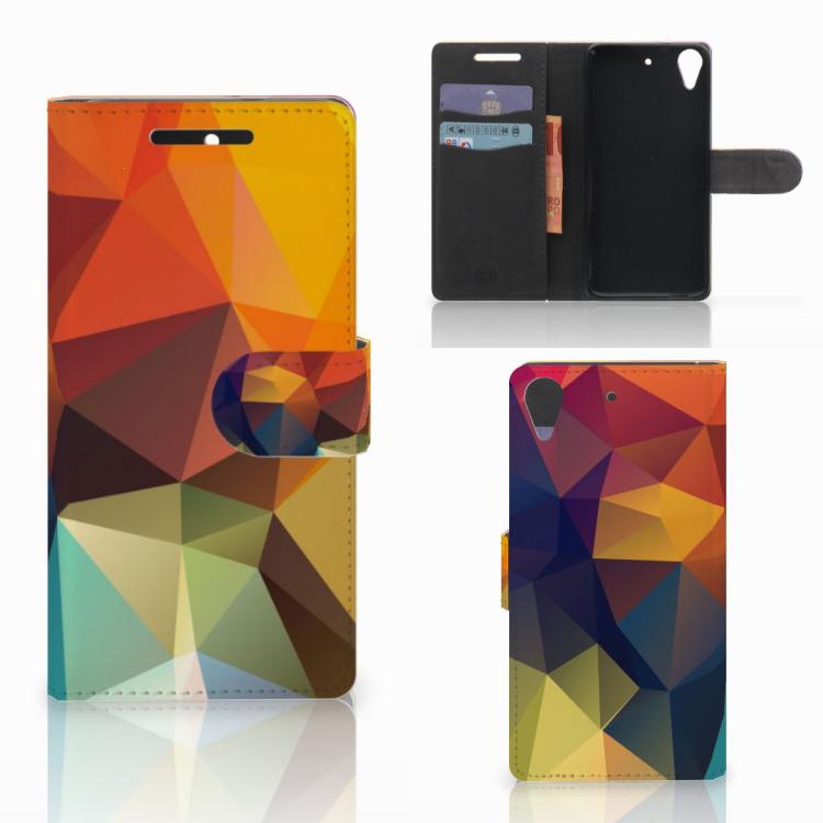HTC Desire 628 Bookcase Polygon Color