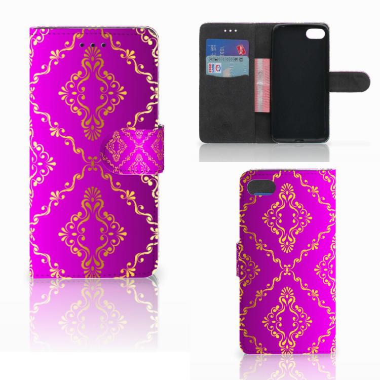 Wallet Case Huawei Y5 2018 Barok Roze