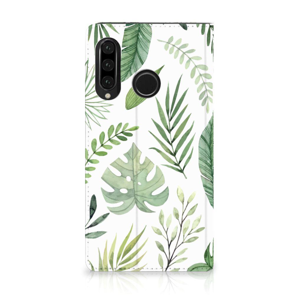 Huawei P30 Lite Uniek Standcase Hoesje Leaves
