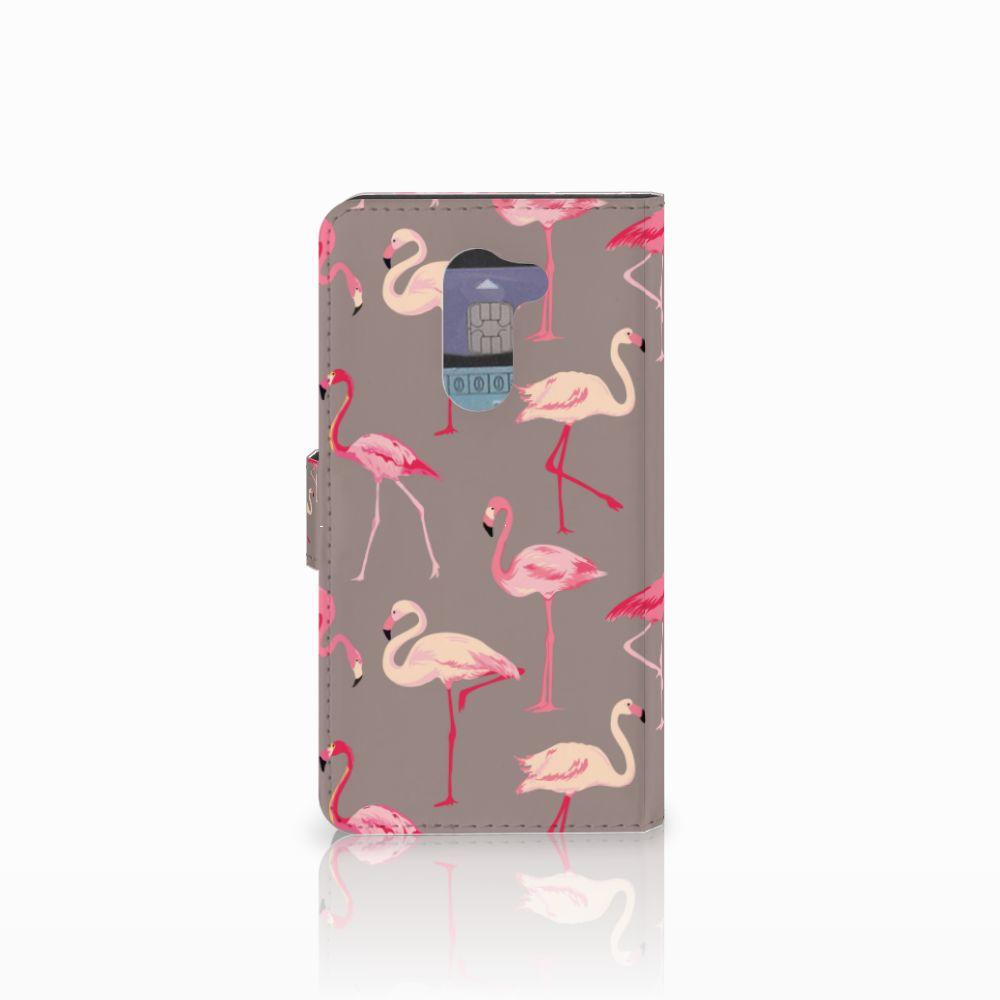 Huawei Honor 6X Telefoonhoesje met Pasjes Flamingo