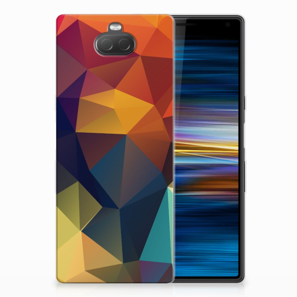 Sony Xperia 10 TPU Hoesje Polygon Color