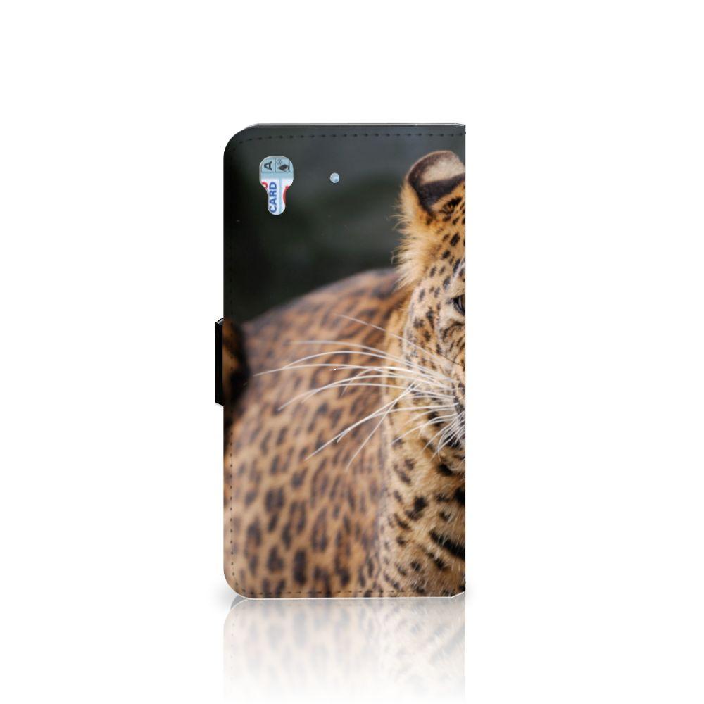 Honor 4A | Y6 Telefoonhoesje met Pasjes Luipaard
