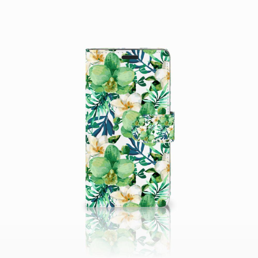 LG G3 Uniek Boekhoesje Orchidee Groen