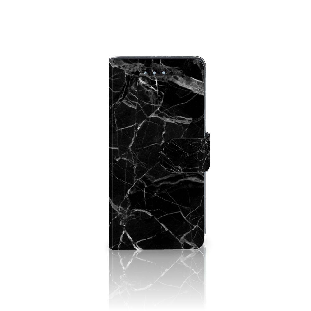 Huawei P9 Lite Boekhoesje Marmer Zwart