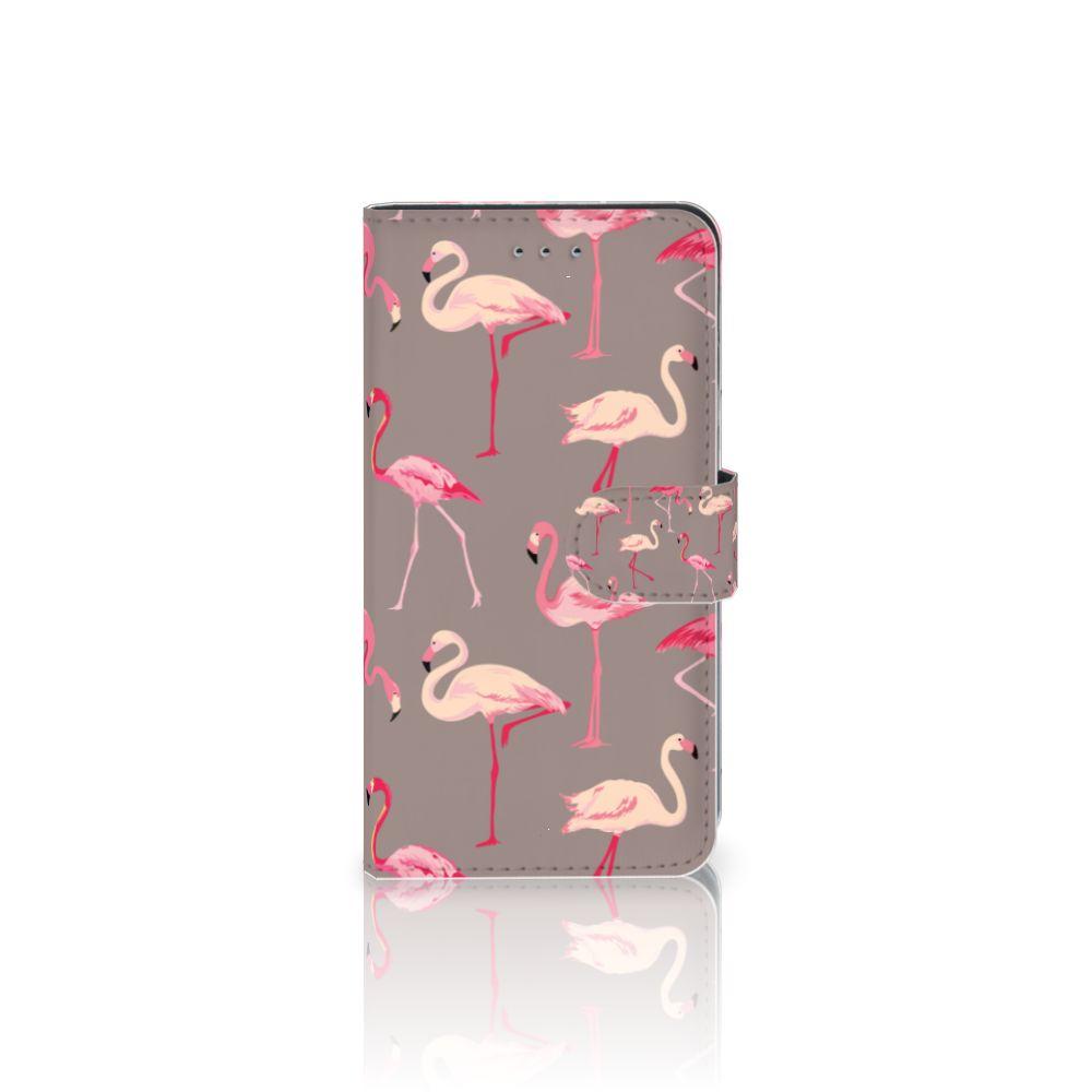 Samsung Galaxy J4 2018 Uniek Boekhoesje Flamingo