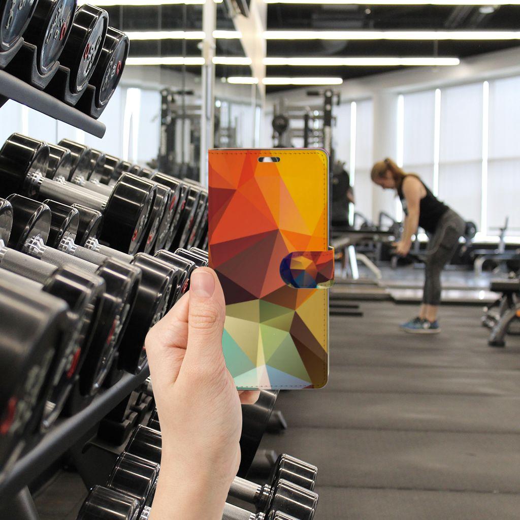 Sony Xperia C5 Ultra Bookcase Polygon Color