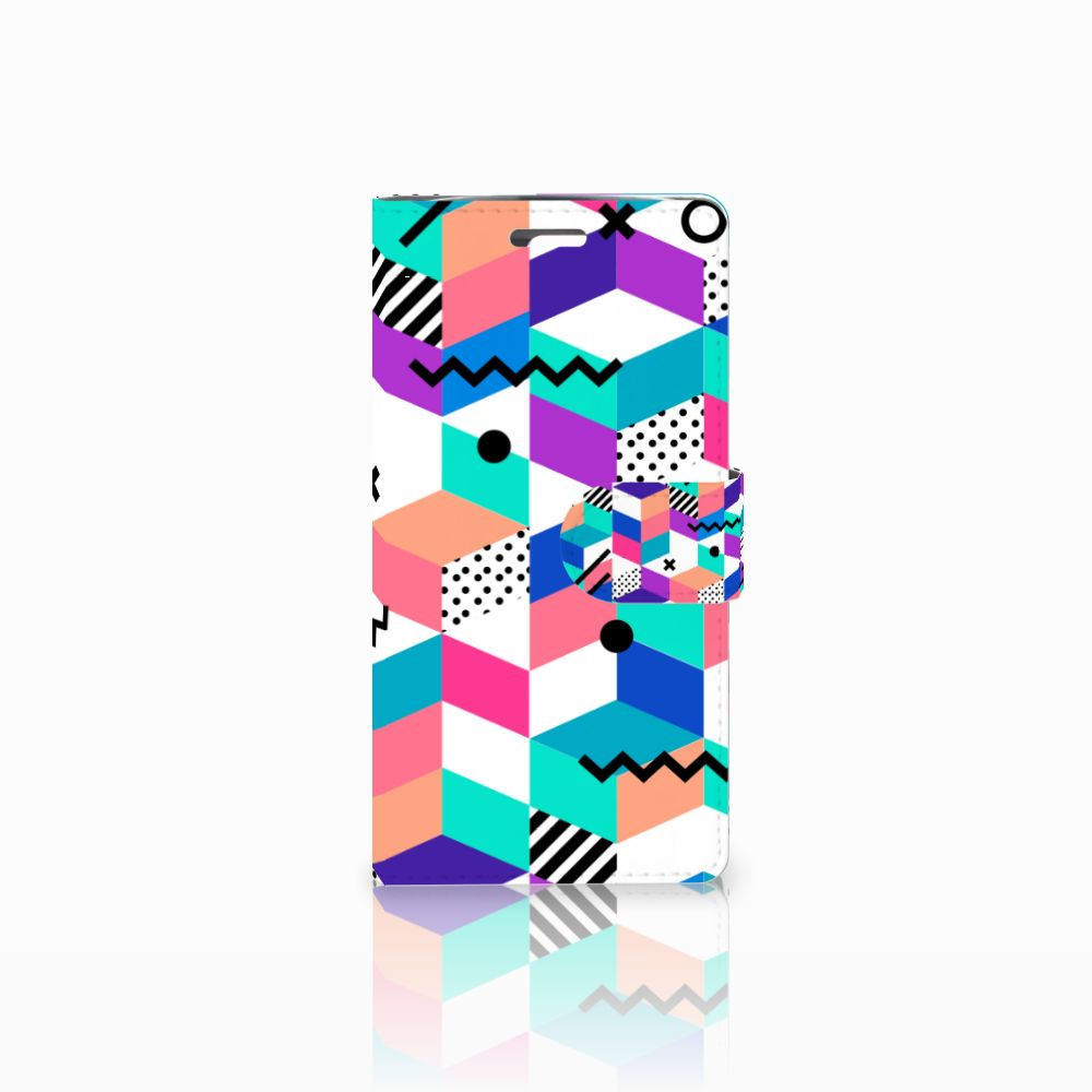 LG K10 2015 Boekhoesje Design Blocks Colorful