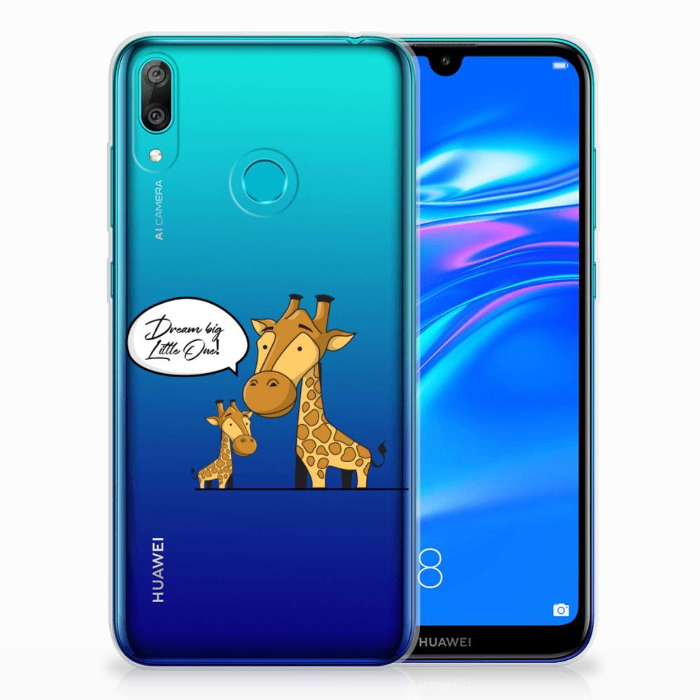 Huawei Y7 2019 Telefoonhoesje met Naam Giraffe