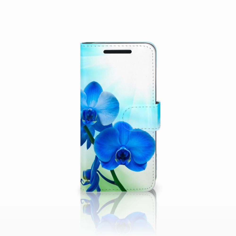 HTC One M9 Boekhoesje Design Orchidee Blauw