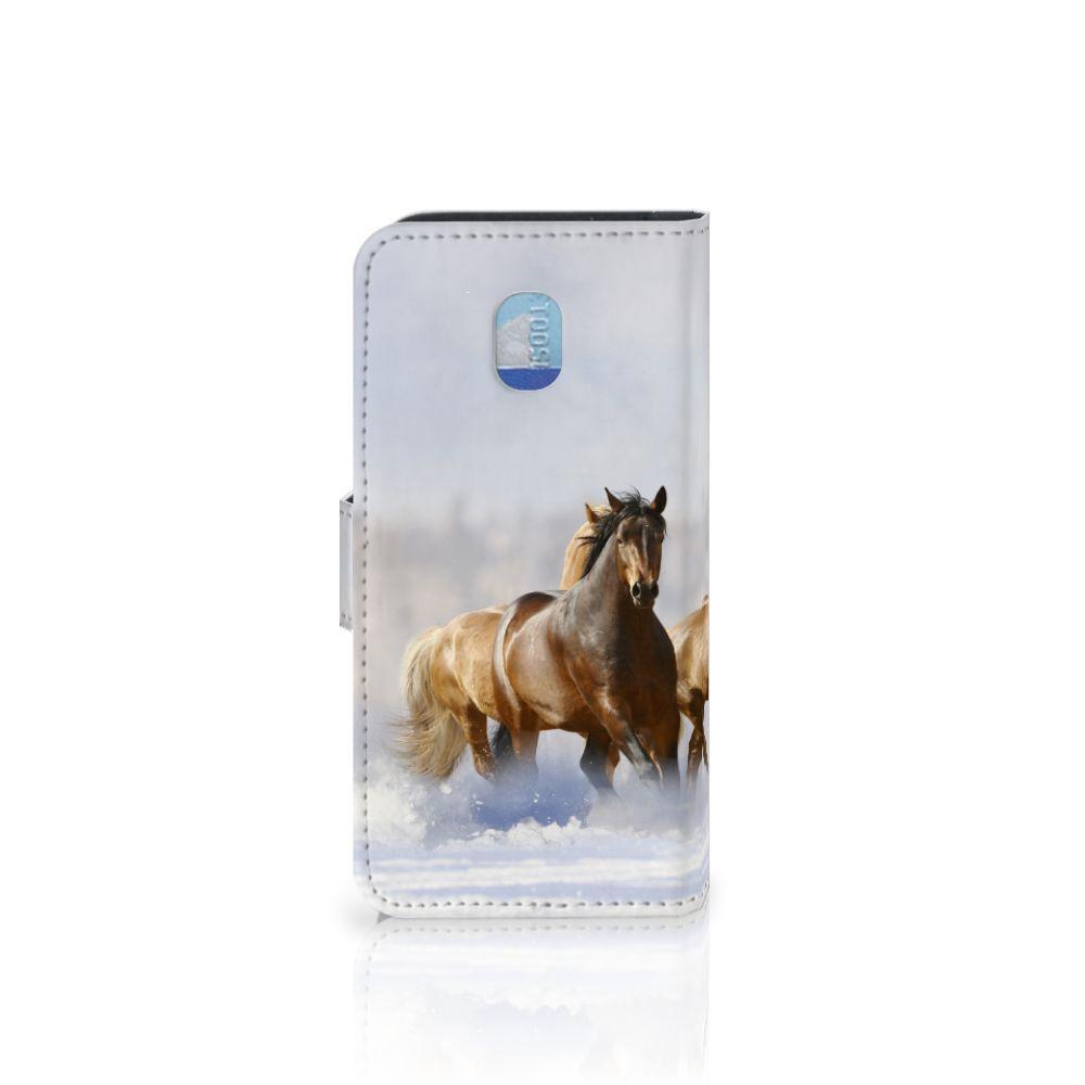 Samsung Galaxy J3 (2018) Telefoonhoesje met Pasjes Paarden