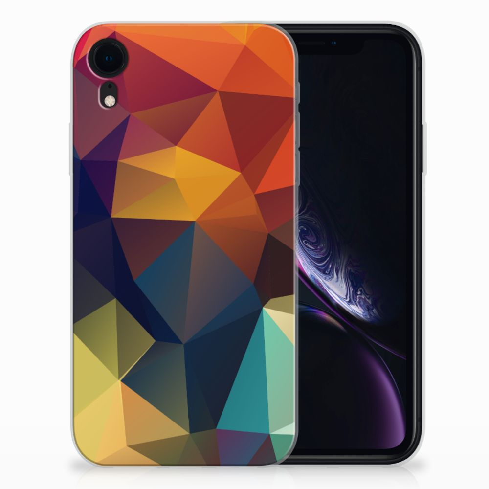 Apple iPhone Xr TPU Hoesje Polygon Color