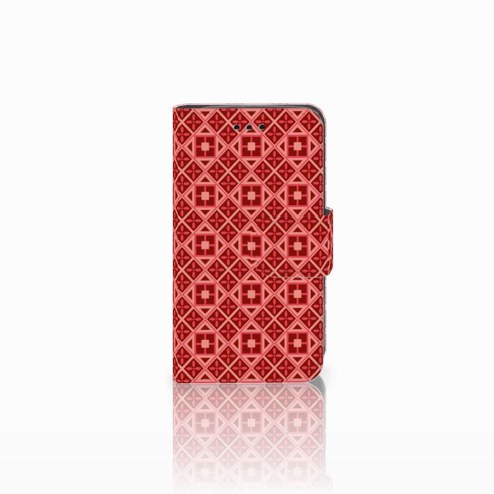 Samsung Galaxy Trend 2 Uniek Boekhoesje Batik Red