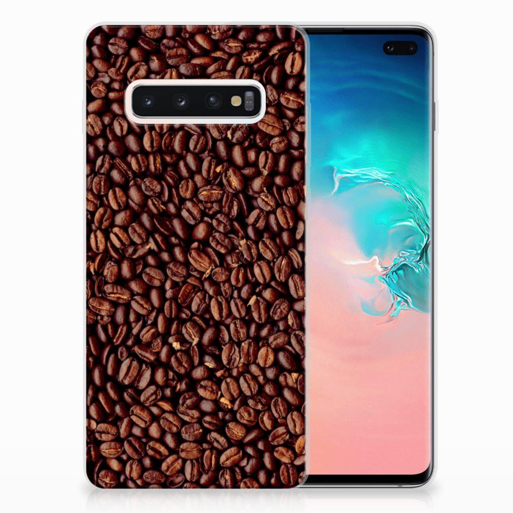 Samsung Galaxy S10 Plus Siliconen Case Koffiebonen
