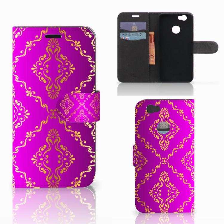 Wallet Case Huawei Nova Barok Roze