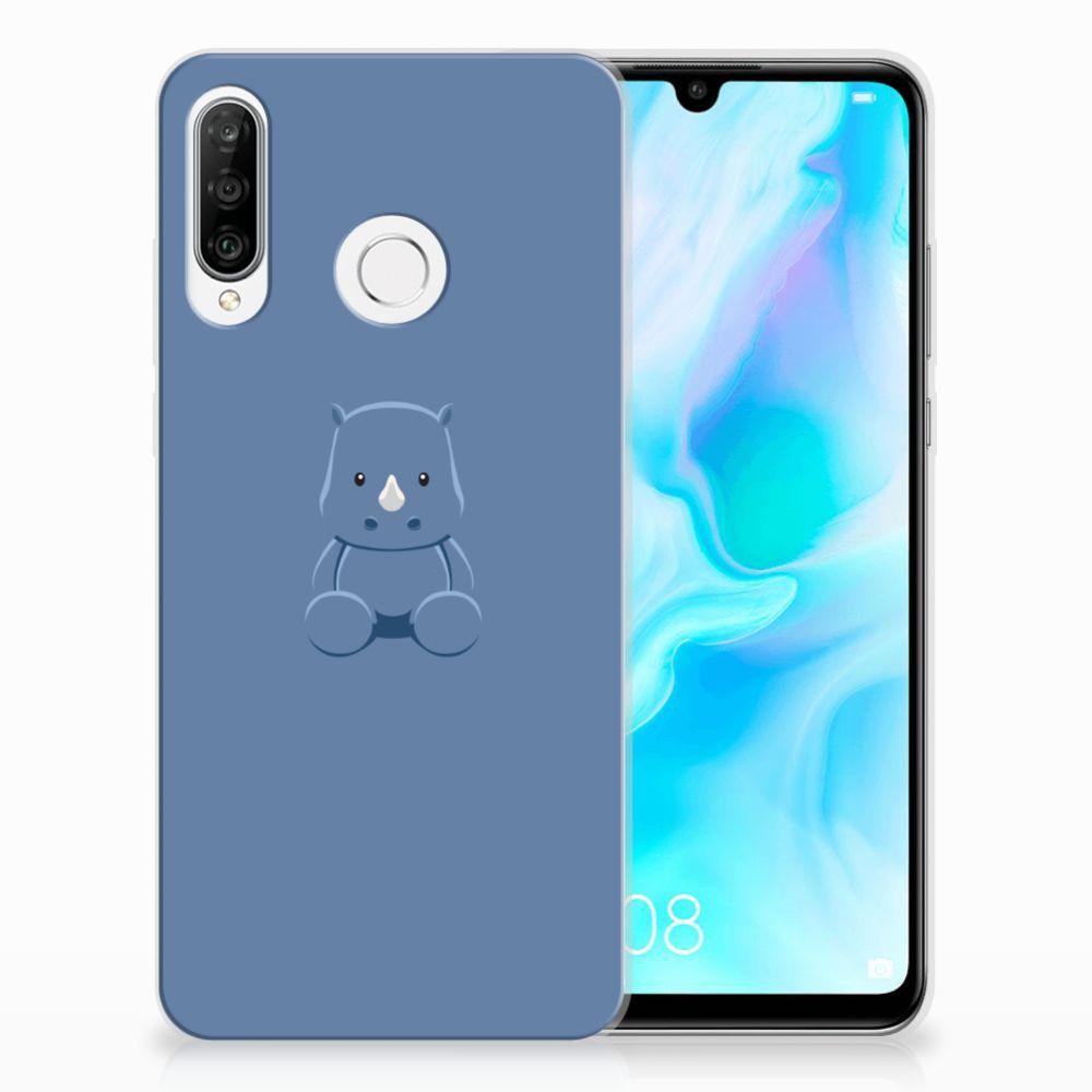Huawei P30 Lite Telefoonhoesje met Naam Baby Rhino