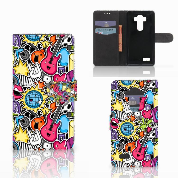 LG G4 Wallet Case met Pasjes Punk Rock