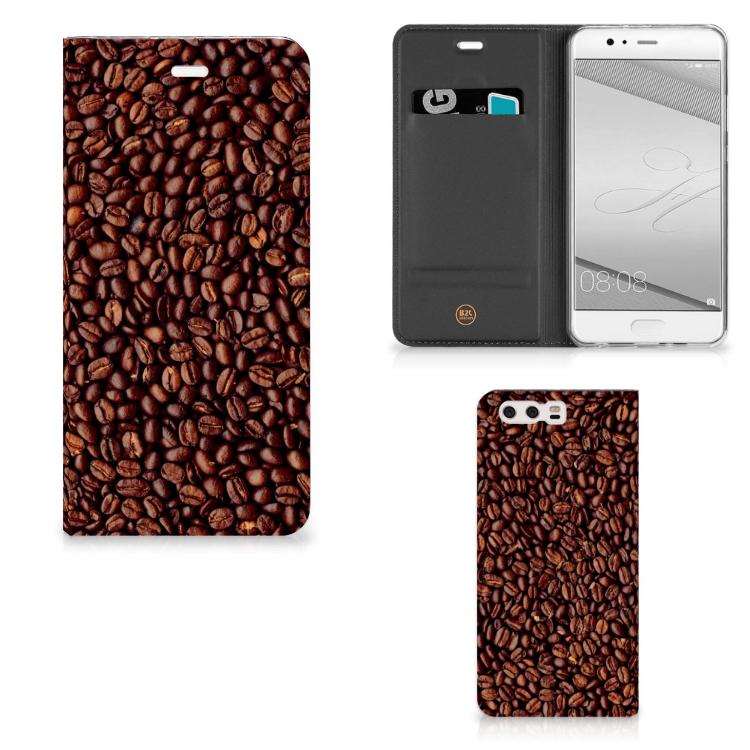 Huawei P10 Plus Flip Style Cover Koffiebonen
