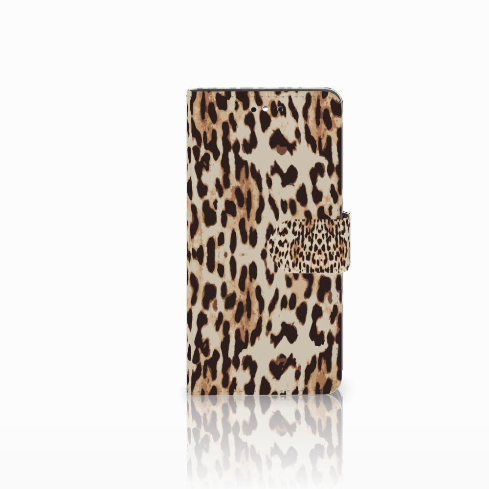 Huawei P8 Lite Smart (GR3) Uniek Boekhoesje Leopard