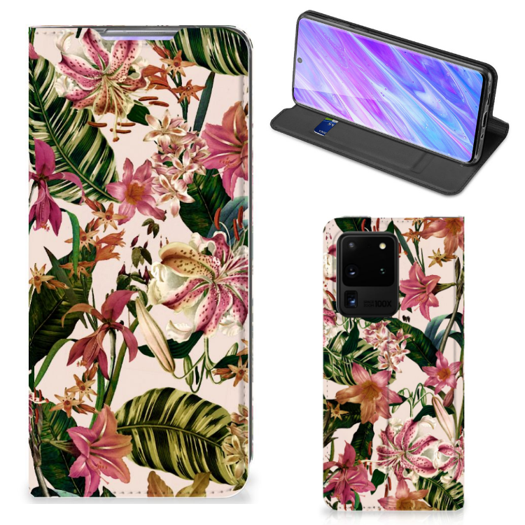 Samsung Galaxy S20 Ultra Smart Cover Flowers