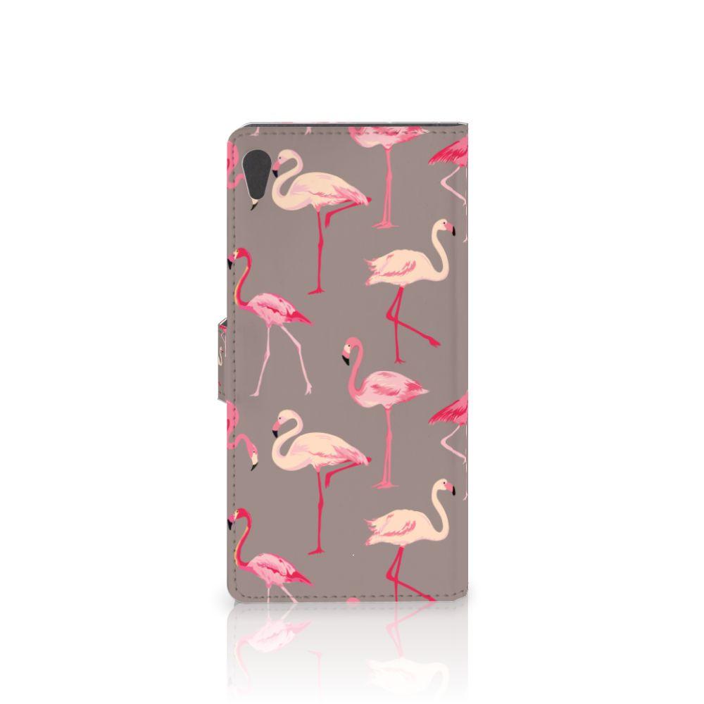 Sony Xperia XA Ultra Telefoonhoesje met Pasjes Flamingo