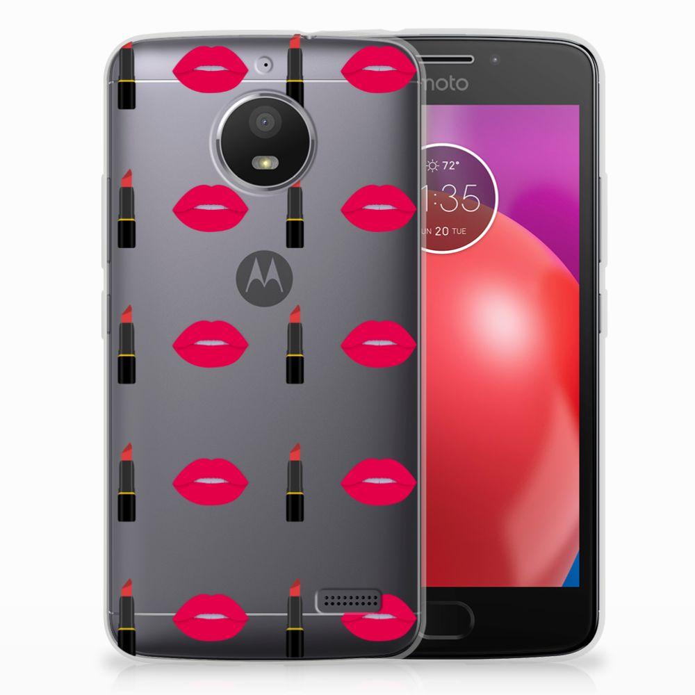 Motorola Moto E4 TPU bumper Lipstick Kiss