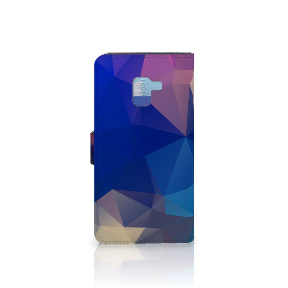 Samsung Galaxy A8 Plus (2018) Bookcase Polygon Dark