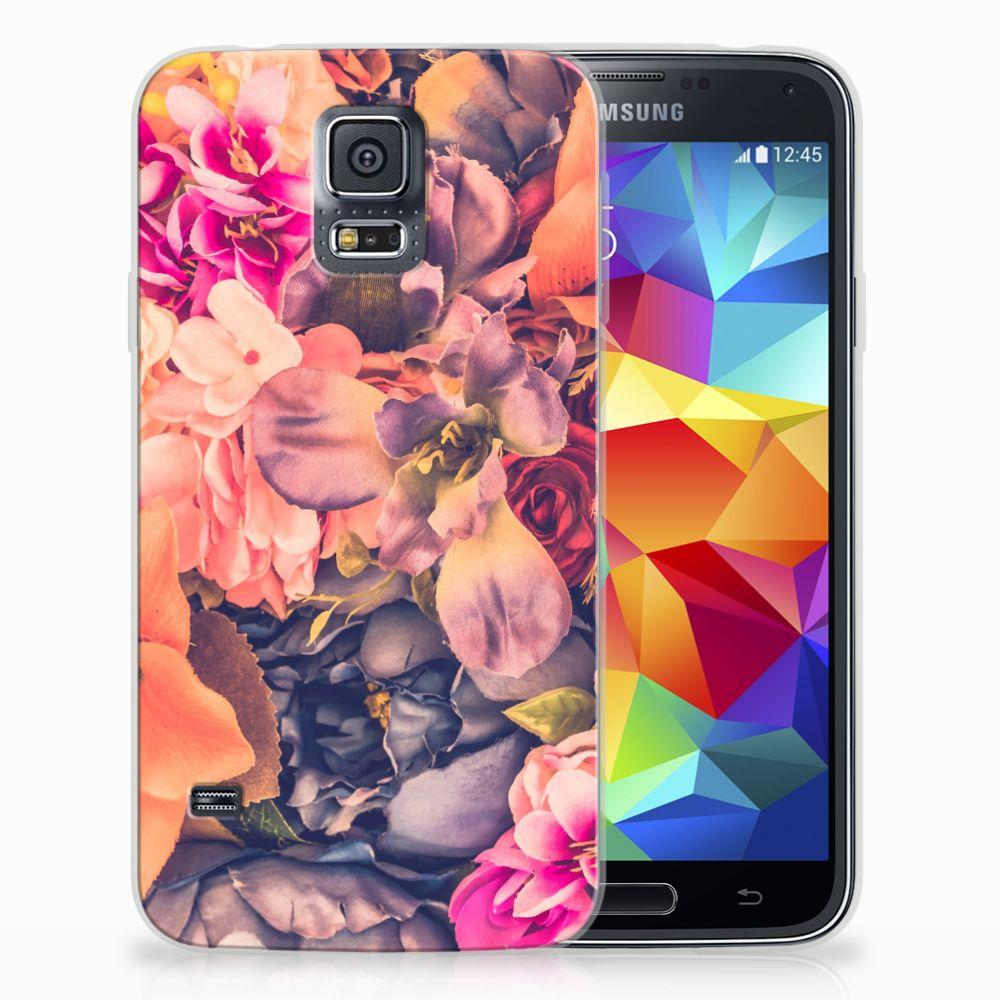 Samsung Galaxy S5 TPU Hoesje Design Bosje Bloemen