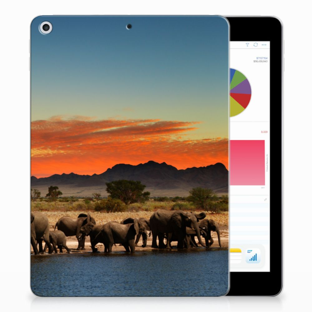 Apple iPad 9.7 2018 | 2017 Tablethoesje Design Olifanten