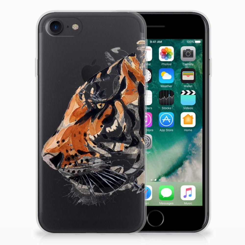 Hoesje maken Apple iPhone 7 | 8 Watercolor Tiger