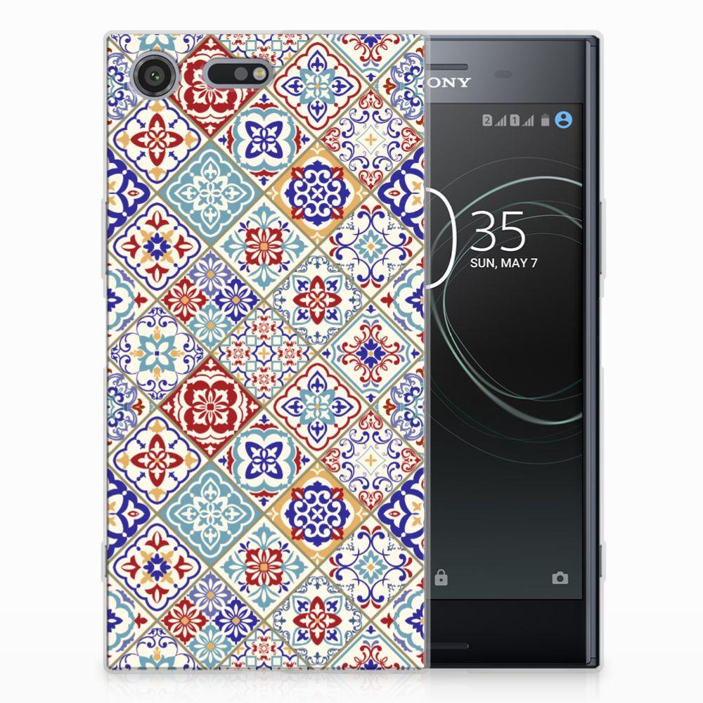 Sony Xperia XZ Premium Uniek TPU Hoesje Tiles Color