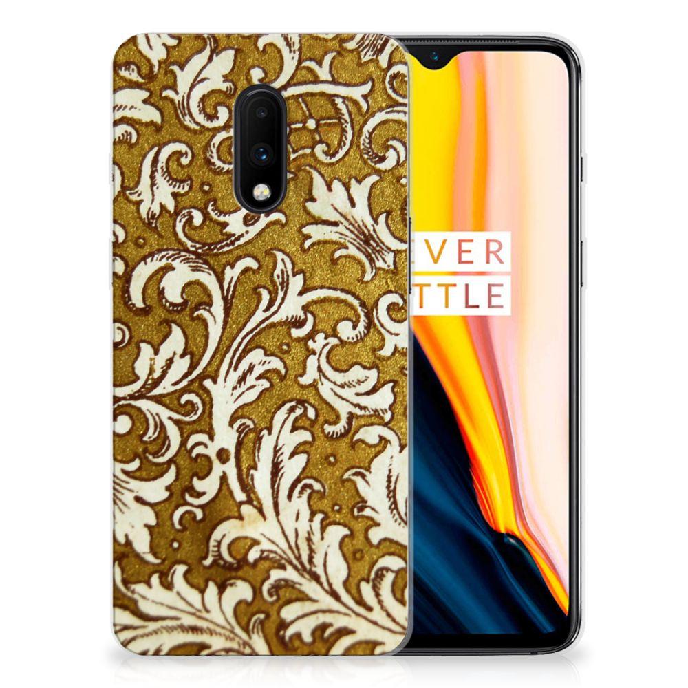 Siliconen Hoesje OnePlus 7 Barok Goud