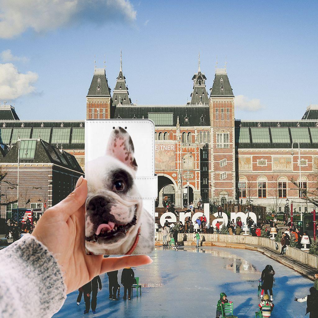 Huawei G8 Telefoonhoesje met Pasjes Franse Bulldog