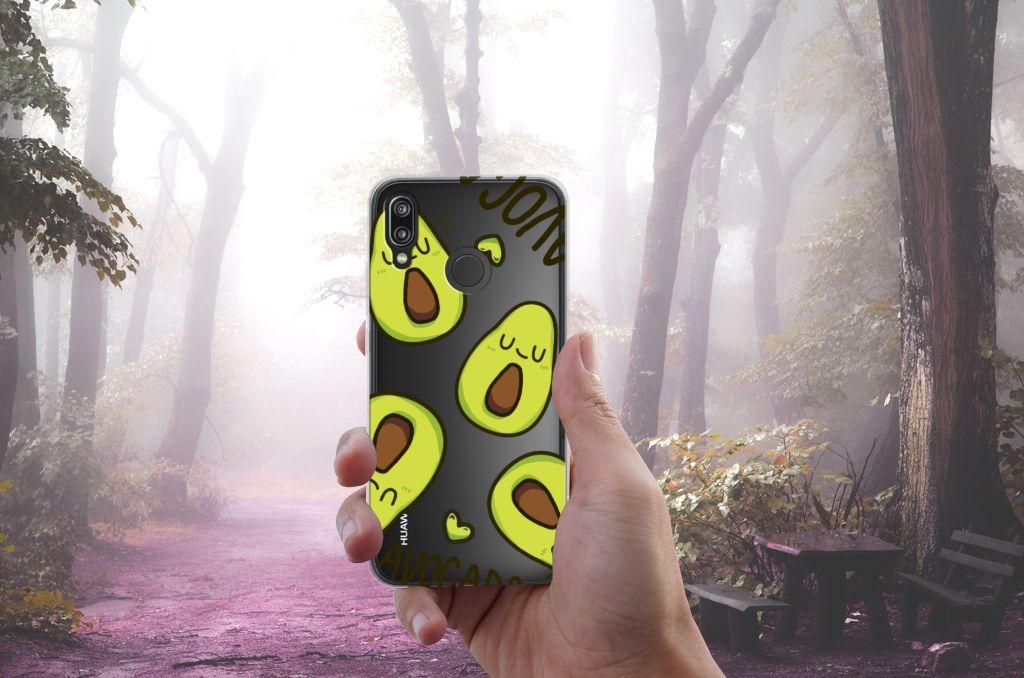 Huawei P20 Lite Telefoonhoesje met Naam Avocado Singing
