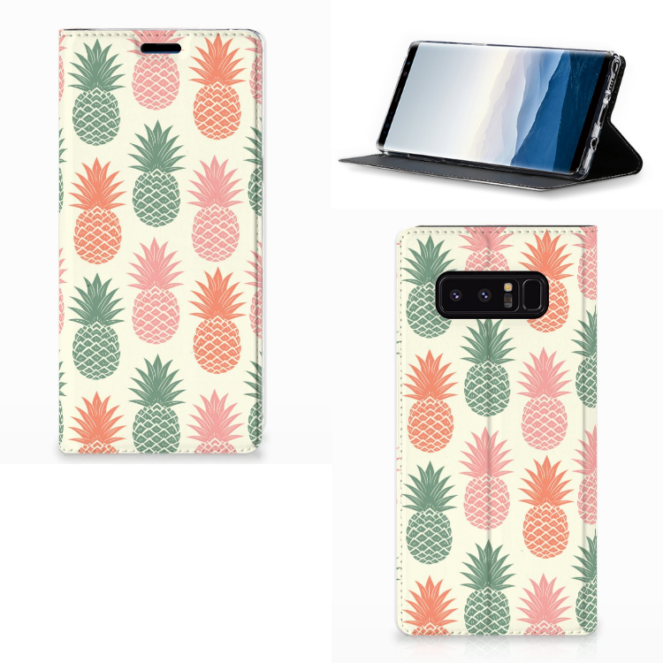 Samsung Galaxy Note 8 Flip Style Cover Ananas
