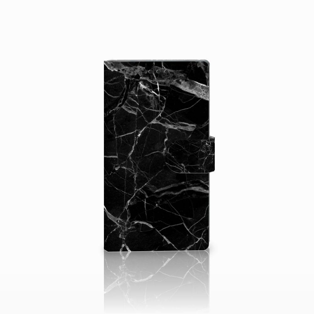 Sony Xperia L2 Uniek Boekhoesje Marmer Zwart