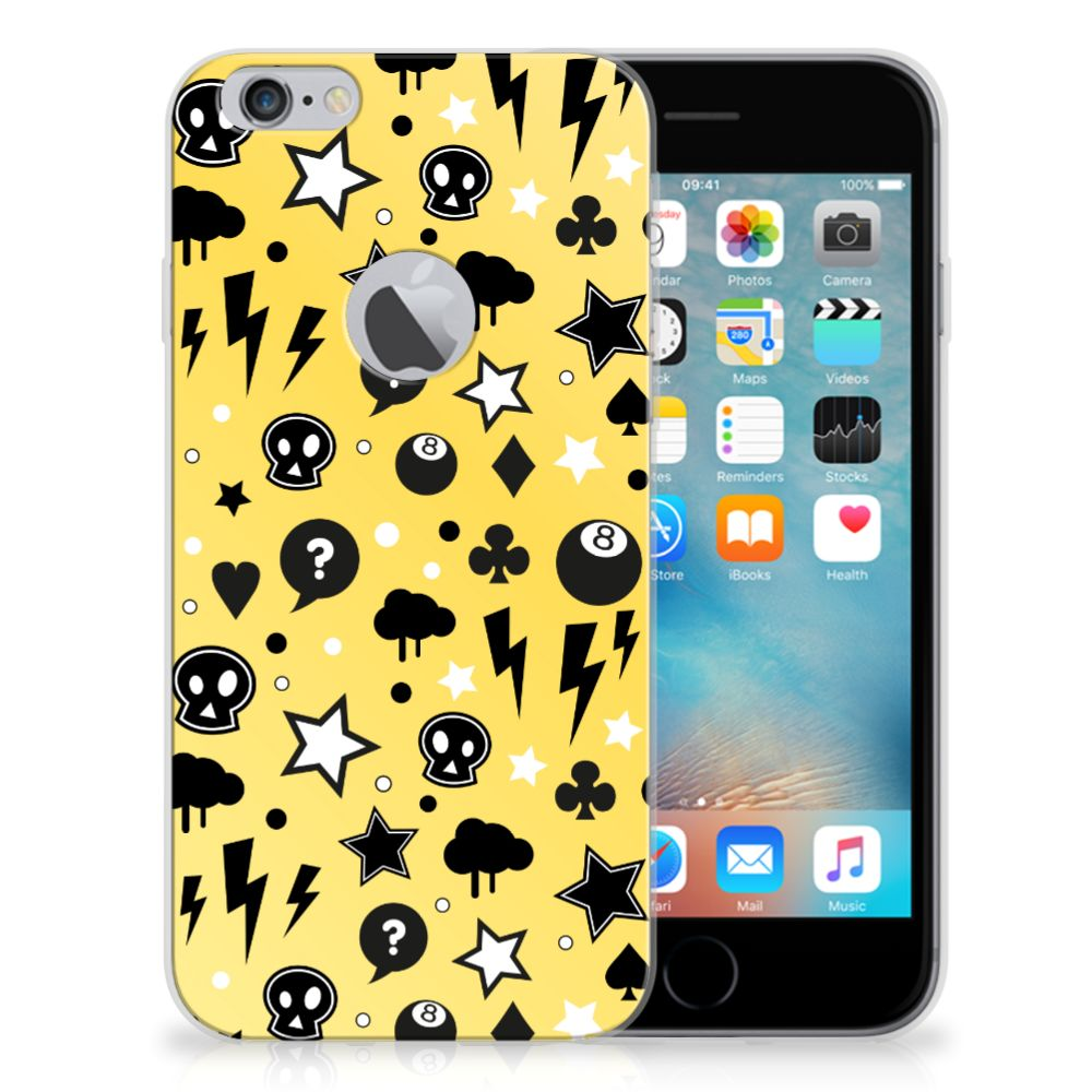 Silicone Back Case Apple iPhone 6 Plus | 6s Plus Punk Geel