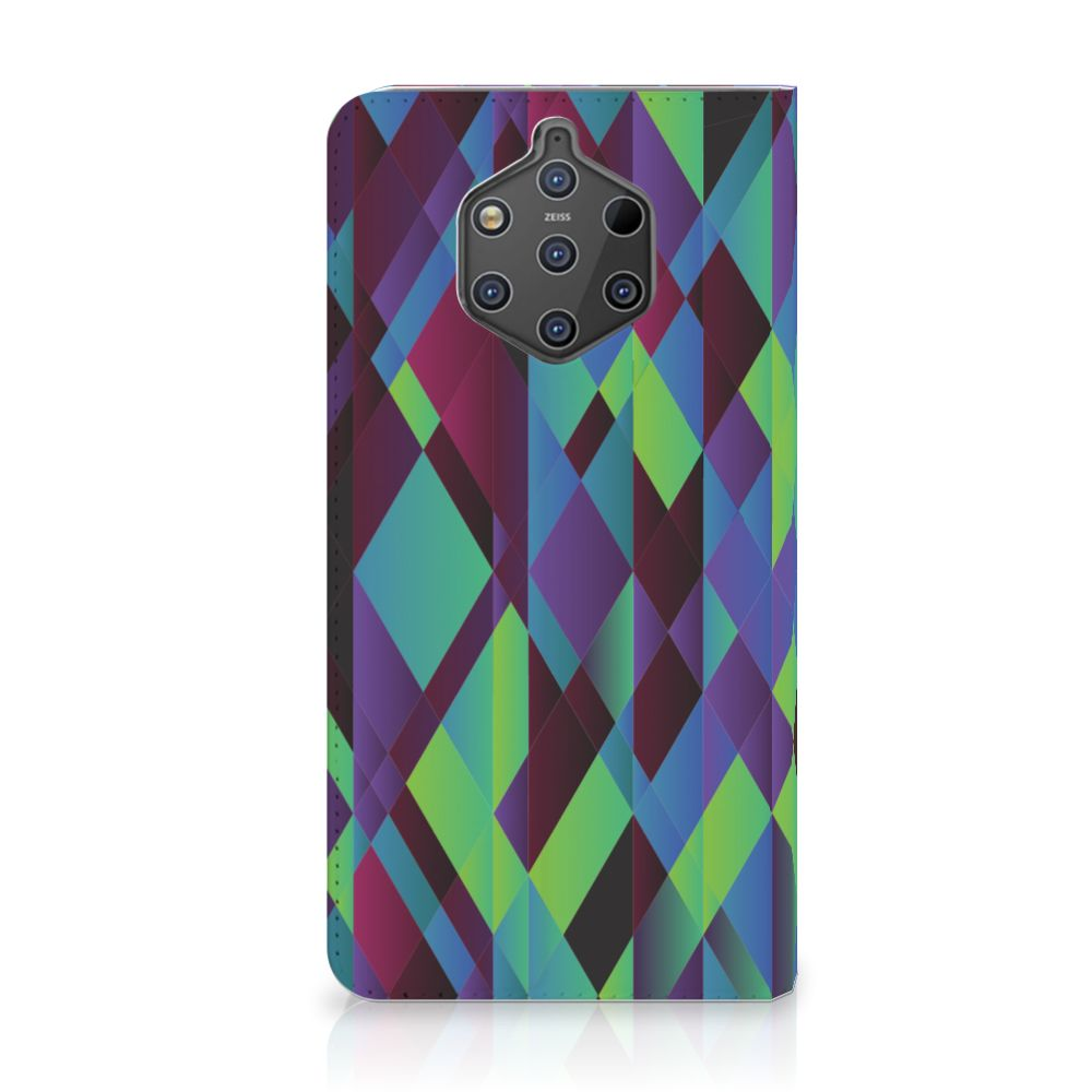 Nokia 9 PureView Stand Case Abstract Green Blue