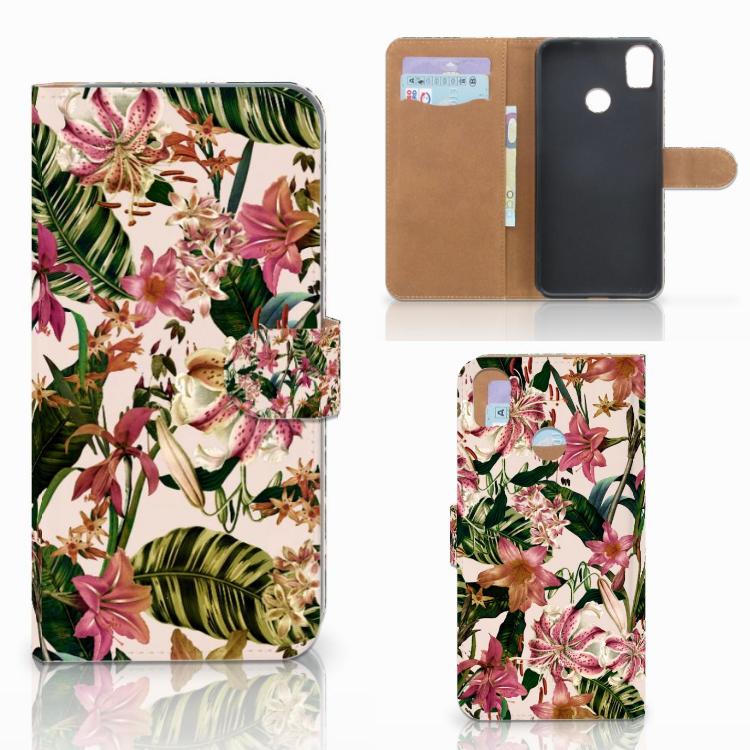 HTC Desire 10 Pro Hoesje Flowers