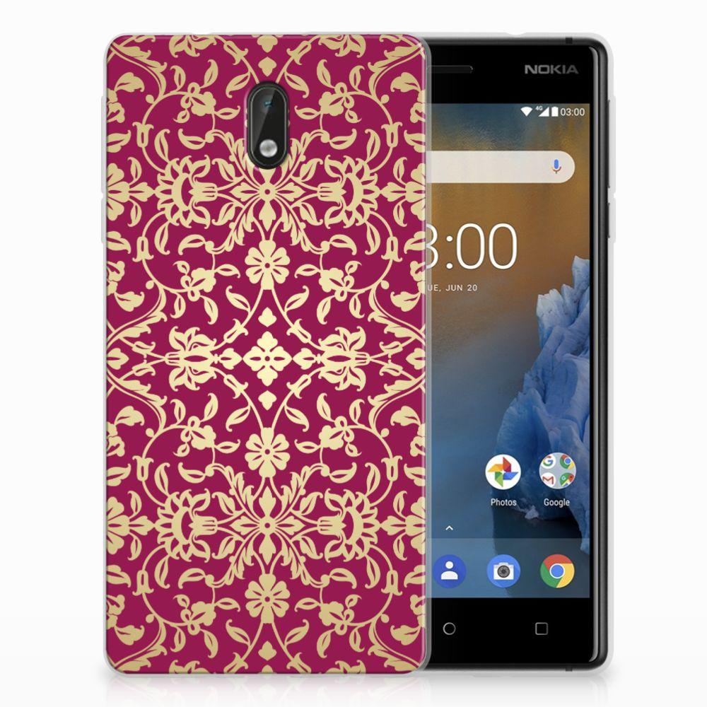 Nokia 3 TPU Hoesje Design Barok Pink