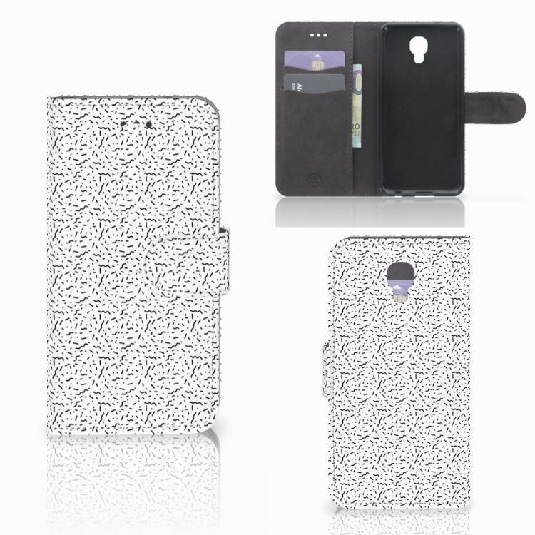 LG X Screen Telefoon Hoesje Stripes Dots