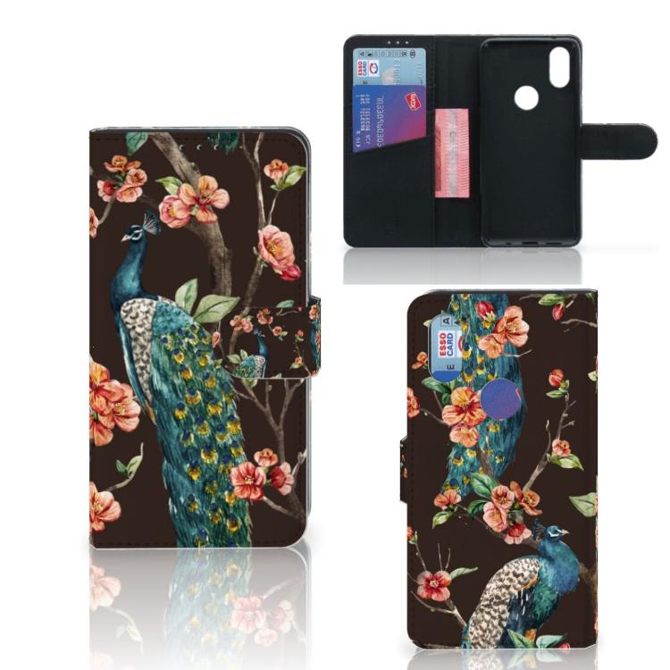 Xiaomi Mi Mix 2s Telefoonhoesje met Pasjes Pauw met Bloemen