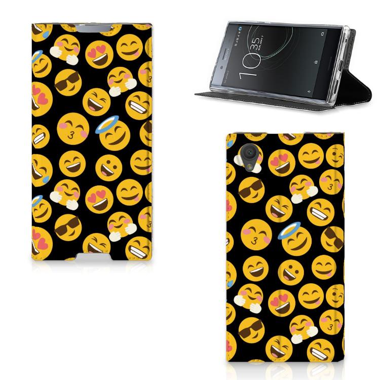 Sony Xperia L1 Hoesje met Magneet Emoji