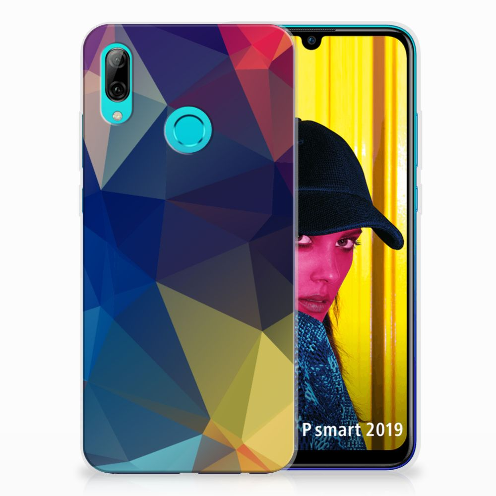 Huawei P Smart 2019 TPU Hoesje Polygon Dark