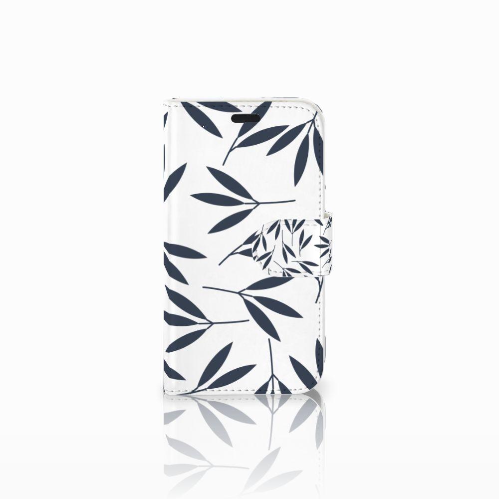 LG L Fino Boekhoesje Design Leaves Blue