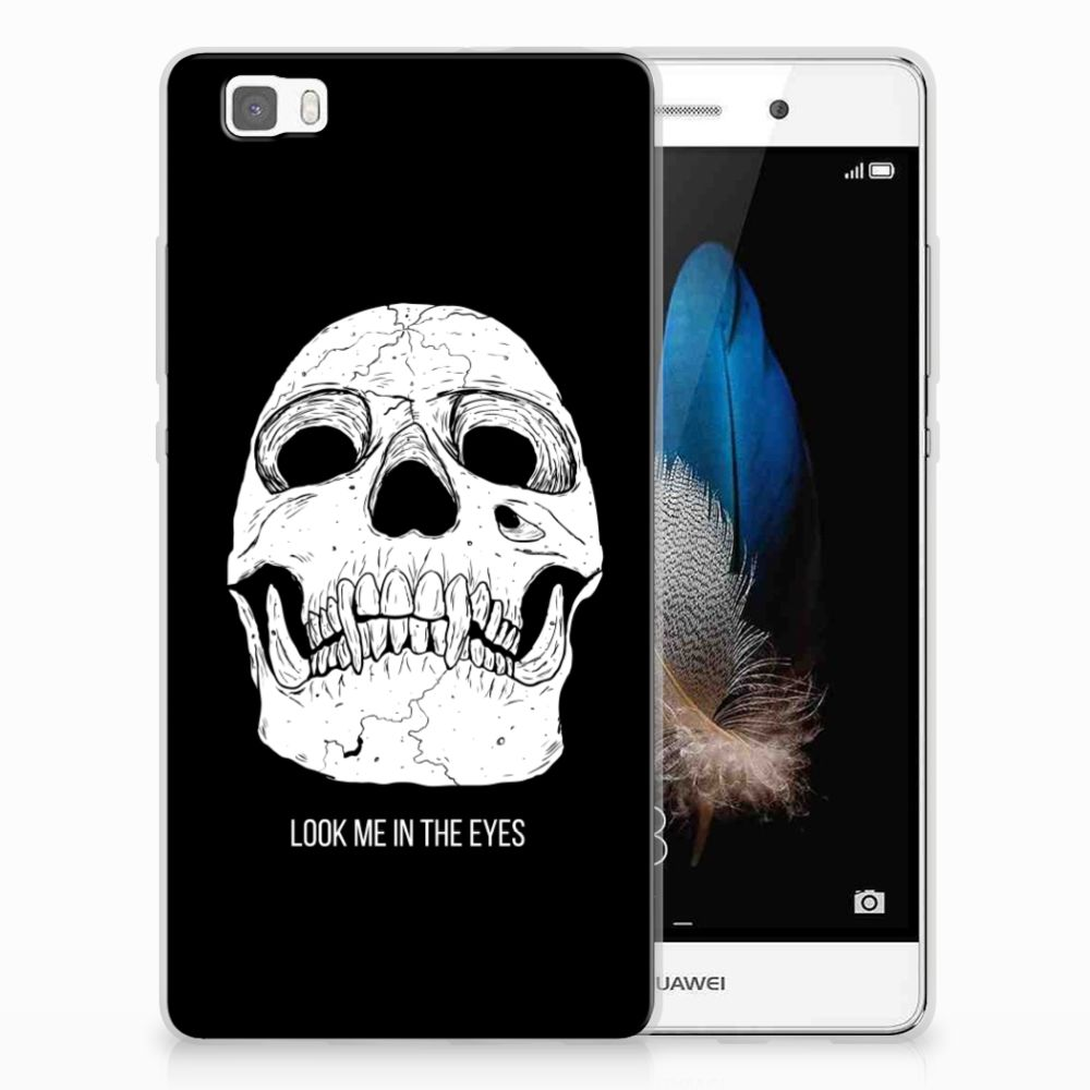 Silicone Back Case Huawei Ascend P8 Lite Skull Eyes