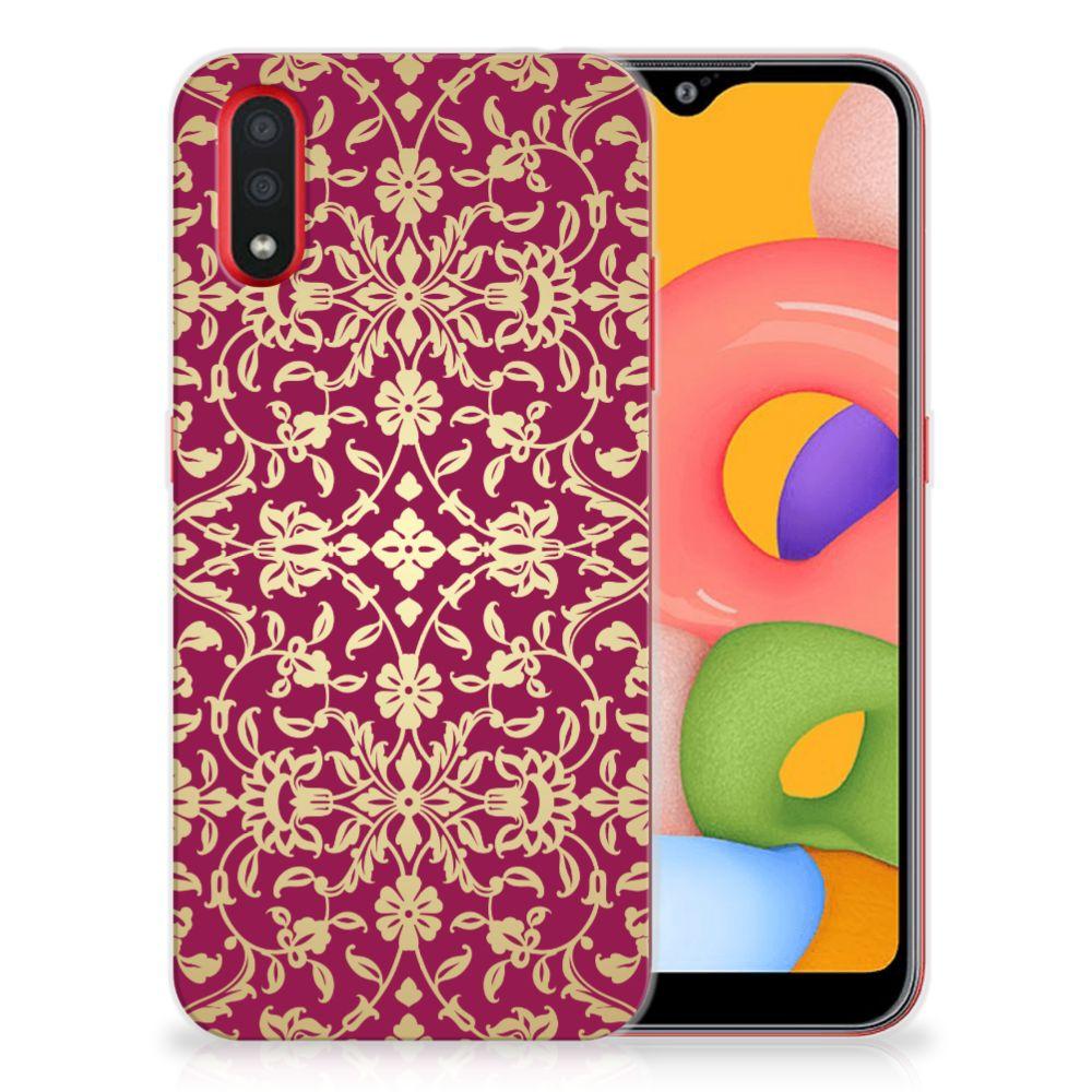 Siliconen Hoesje Samsung Galaxy A01 Barok Pink