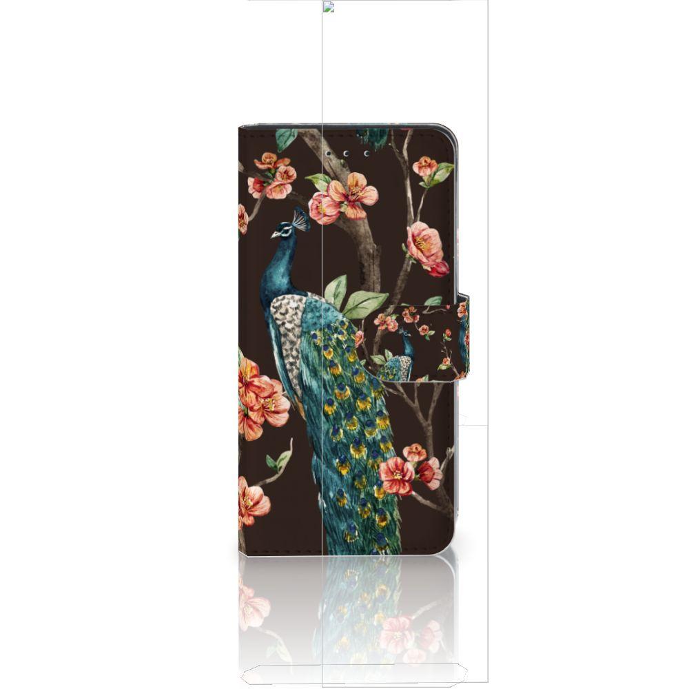 Huawei P20 Boekhoesje Design Pauw met Bloemen