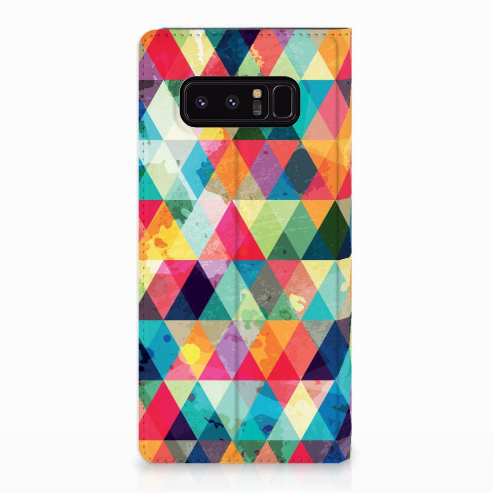 Samsung Galaxy Note 8 Uniek Standcase Hoesje Geruit