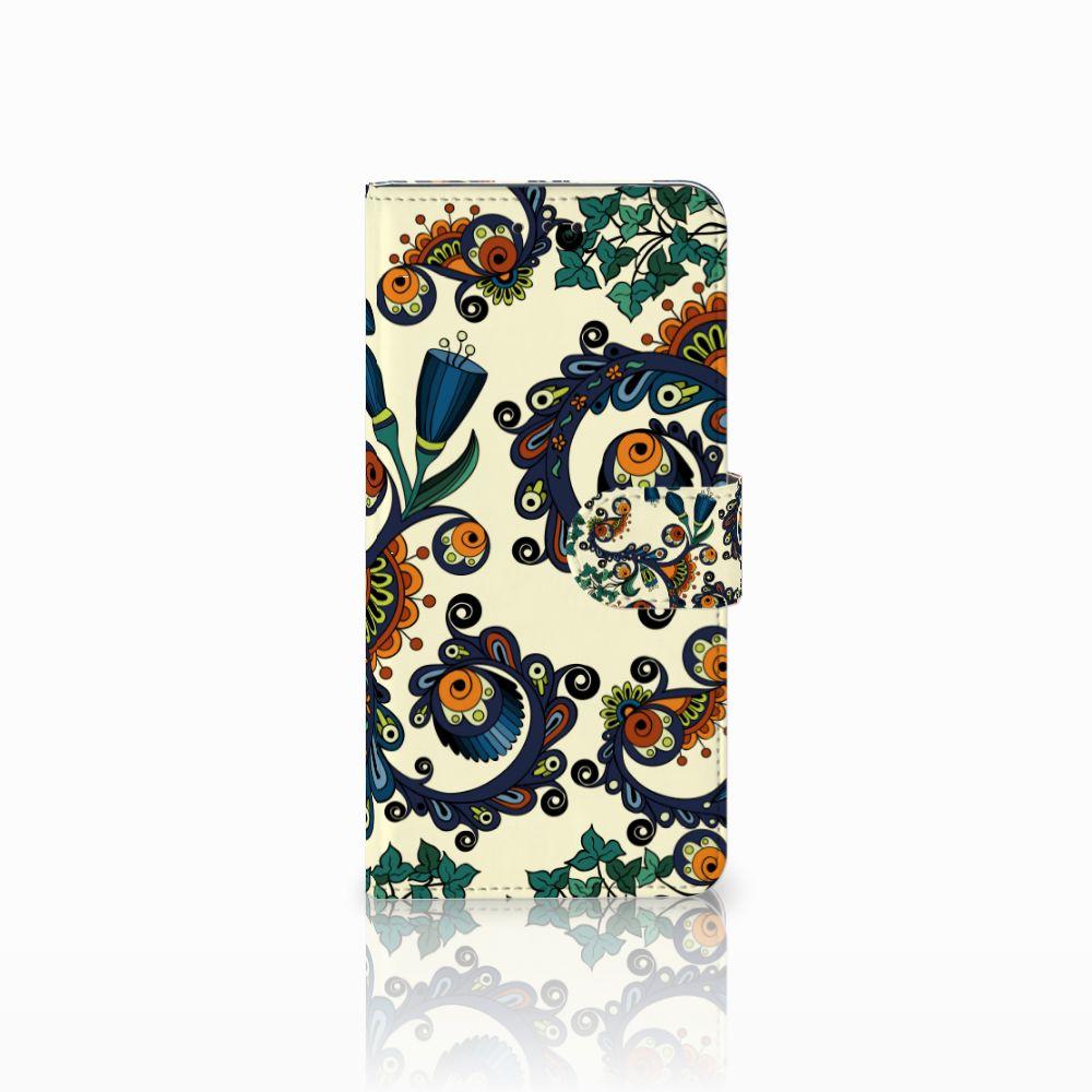 Motorola Moto E5 Boekhoesje Design Barok Flower